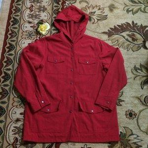 Karen Kane lightweight hooded rain jacket